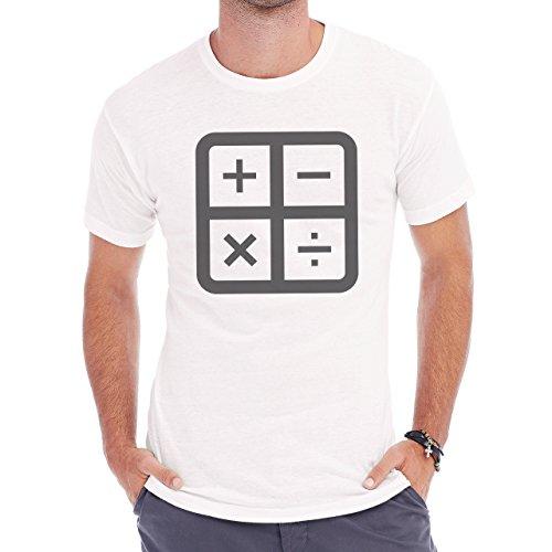Number Math Symbol Calculus Equations Plus Minus Herren T-Shirt Weiß