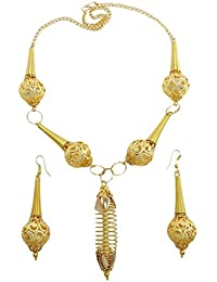 Indian Bollywood Ethnic Gold Plated Necklace Set Traditional Jewellery