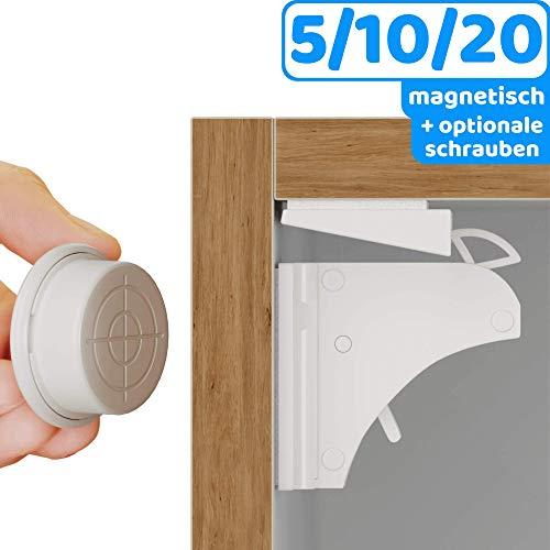 10//20 x Schubladen Schrankschloss Sicherheitsriegel /& Schrauben für Baby Schutz