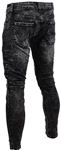 Jaylvis Herren Jeanshose * One Size Noir 003
