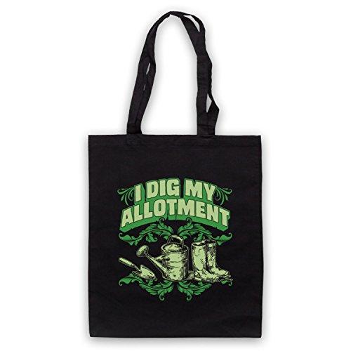 I Dig My Allotment Gardening Slogan Umhangetaschen Schwarz