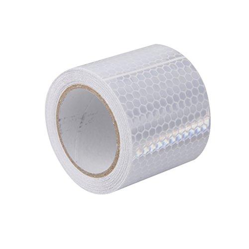 Baoblaze 5cm×3m Klebeband Warnklebeband Reflektorband Sicherheit Markierung Band, 5 Farben Wählbar - Weiß