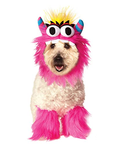 Monster Kostüm Hunde Pink - Horror-Shop Pink Monster Hundekostüm S-L Polyester | für Fasching, Halloween, Mottoparty L