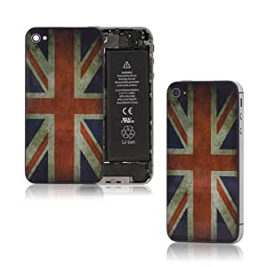 Retro Union Jack Glass IPhone 4s Back Cover Housing Battery Case Replacement