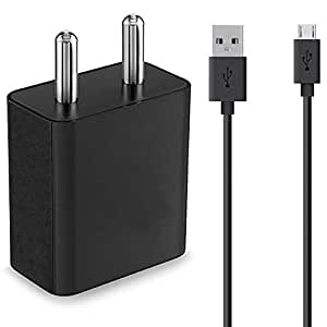 shopcart Charger For ZTE Blade A452 Mobile Charger, Power Charger, Wall Charger, Fast Adaptive Charger, Android Smartphone Charger, Hi-Speed Travel Charger With Micro USB Charging Data Cable - 1m Long Color May Vary