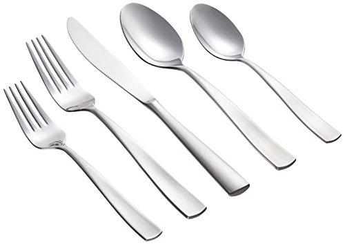 Farberware Besteck-Set, Edelstahl, 8-teilig, Gabeln, Löffel, Messer, 45 Teile Cayenne 20-Piece Set Brushed Finish - Farberware 12