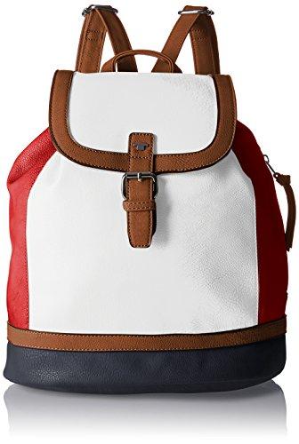 TOM TAILOR Acc Damen Juna Rucksackhandtasche, Rot (Rot), 12x32x31 cm