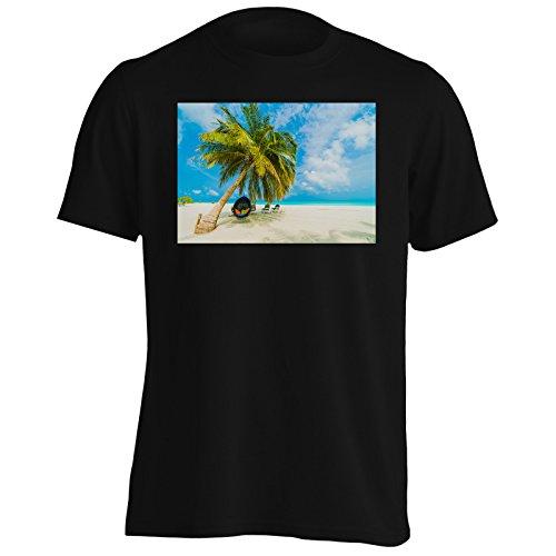 Maldive vacanza spiaggia viaggiare il mondo Uomo T-shirt b394m Black