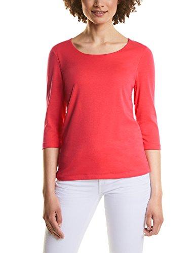Street One Damen Langarmshirt 311694 Pania, Rot (Hibiscus Red 11346), 40 (Herstellergröße: 40)
