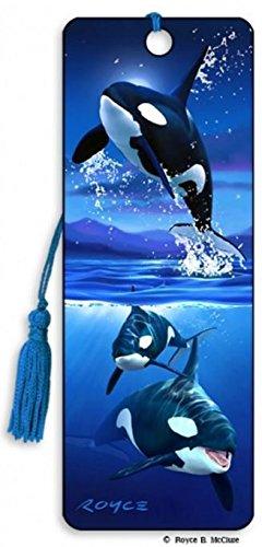Orcas (Killerwal) Lesezeichen mit Quaste - 3D - Lesezeichen - Cheatwell