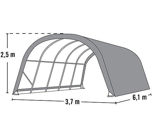 ShelterLogic Premium Weidezelt, Lagerzelt & Lagerhütte grün 22,6 m² // 370x610x250 cm (BxTxH) // Weidestand, Pferdestall -