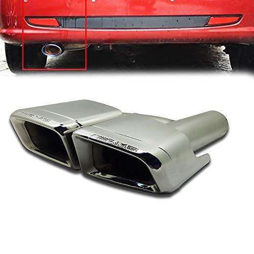 Preisvergleich Produktbild LIDAUTO Auto Edelstahl Auspuff Endrohre Auspuff Tipps Doppelausgang 63mm Durchmesser für DIY E260-AMG-S,  E200,  W212,  E260