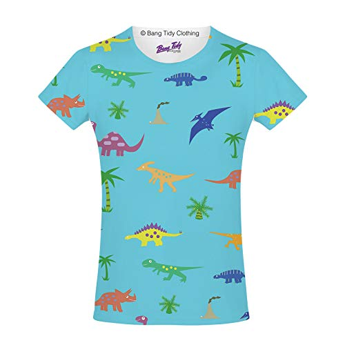 b77f23a1 Bang Tidy Clothing Cartoon Dinosaurs Prehistoric Cute Animals Fun Girls  Unisex Kids Child T Shirt