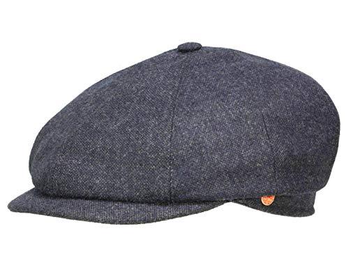 Seven Casual Tweed Flatcap Schirmmütze Newsboy Cap Wintermütze Mayser Wintercap Flatcap (56 cm - grau) -