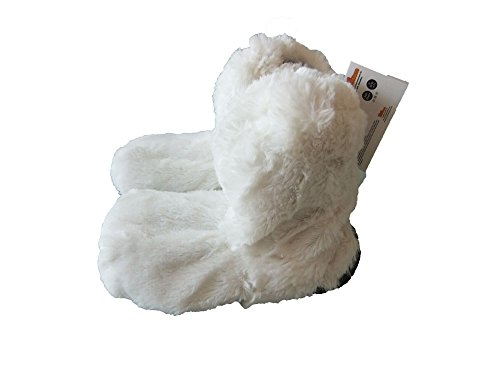 snuggles-furry-microwave-slippers-size-4-7-ladies-heated-foot-warmers-white