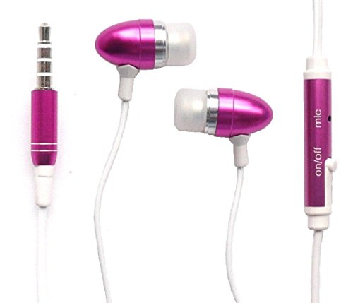 X1 Mobile Headset (Emartbuy® Rosa In Ear Kopfhörer Headset mit Mikrofon Suitable For Coship Mobile Moly X1 / Coship Mobile X5)