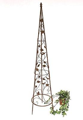 Rankhilfe Pyramide 082547 aus Metall 95cm bis164cm Kletterhilfe Rankgerüst Ranke von DanDiBo Ambiente bei Du und dein Garten