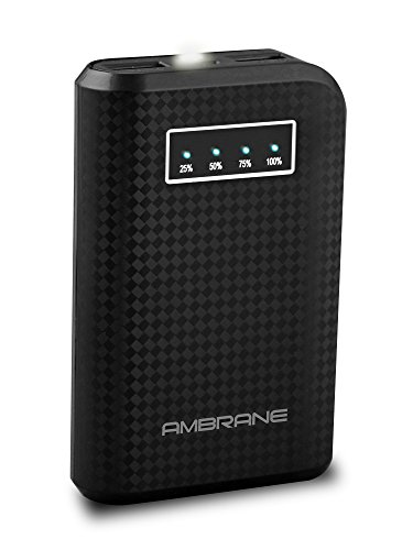 Ambrane Power Bank P-650 (6000 mAh) Black  available at amazon for Rs.649