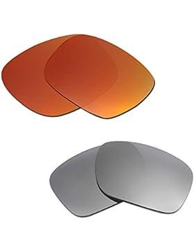 Hkuco Plus Mens Replacement Lenses For Oakley Holbrook Red/Titanium Sunglasses