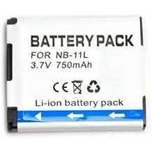 NB-11L nb11l 750 mah Batería para Canon IXUS 125HS PowerShot A3400 Cámaras Digitales