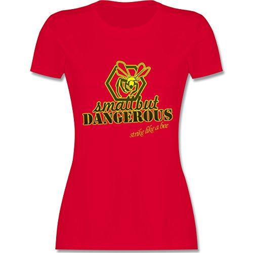 Statement Shirts - Small but dangerous Biene - tailliertes Premium T-Shirt mit Rundhalsausschnitt für Damen Rot