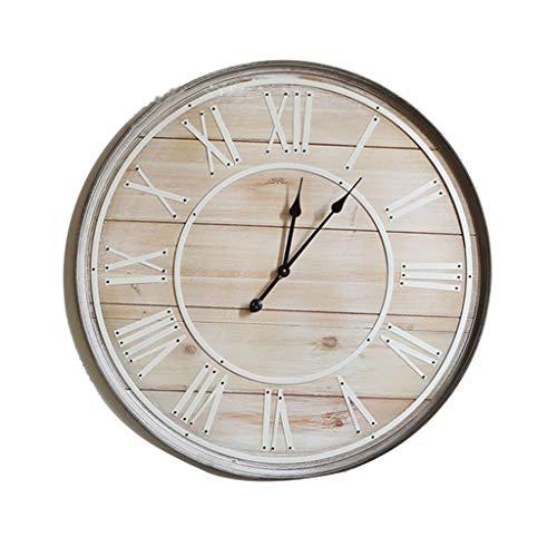 Everyday home Style américain Style européen En Bois Rétro Do Old 32 Pouce 80 Cm Surdimensionné Horloge Murale Horloge Horloge Murale Horloge À Quartz Calme