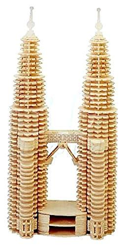 3d puzzle Woodcraft Construction Kit-TWIN TOWERS-Puzzle aus Holz (Towers-puzzle Twin)