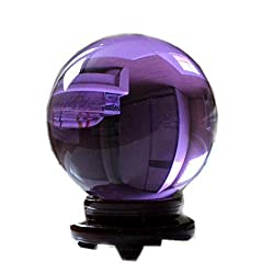 Aaa Rare Natural Amethyst Quartz Crystal Sphere Ball 60mm + Stand