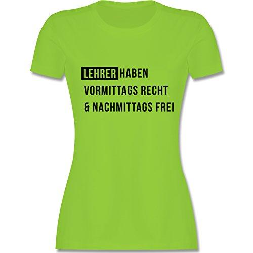 Lehrer - Vormittags Recht & nachmittags frei - tailliertes Premium T-Shirt  mit Rundhalsausschnitt für