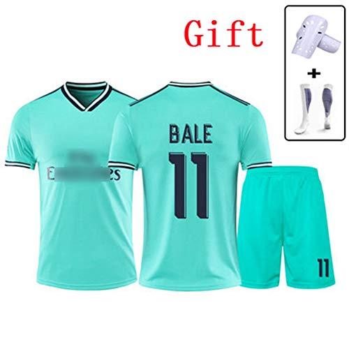 HS-JCWY01 Real Madrid Club De Fútbol # 11 Gareth Bale Fußball-T-Shirt Trikot Schnelltrocknender Trainingsanzug Mit Kurzen Ärmeln Stretch Atmungsaktiv Kinder,2XL195~200CM -