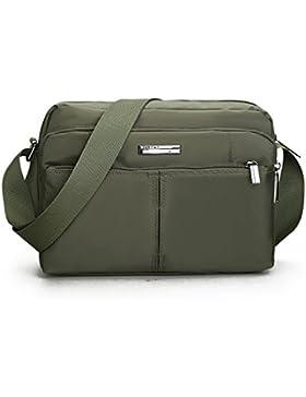 Outreo Umhängetasche Vintage Schultertasche Herren Taschen Retro Messenger Bag Reisen Kuriertasche Sport Herrentaschen...