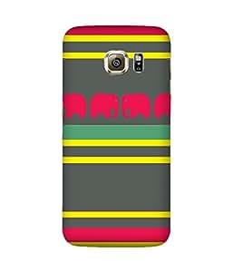 Stripes And Elephant Print (13) Samsung Galaxy S6 Edge Case