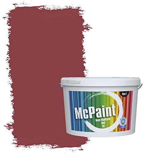 McPaint Bunte Wandfarbe Weinrot - 5 Liter - Weitere Rote Farbtöne Erhältlich - Weitere Größen Verfügbar