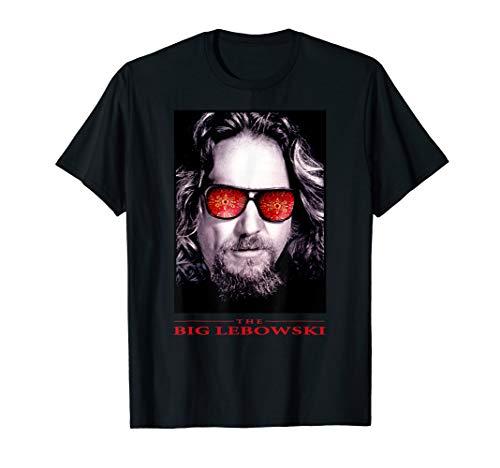 The Big Lebowski The Dude Rug Sun Glasses Poster T-Shirt (Shirt Lebowski Big The)