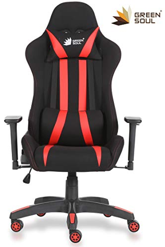 GreenSoul Beast Series Gaming/Ergonomic Chair in Fabric and PU Leather...