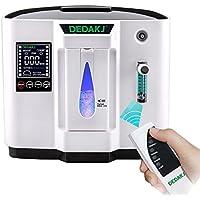 Vogvigo Portable Concentrador y generador de oxígeno 1-6L/min Oxygen Oxígeno de alta pureza Máquina Purificador de aire 90% de alta pureza para Hogar Hospital el coche y viaje (220V- Negro)