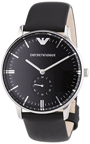 Emporio Armani Unisex Adult Analogue Quartz Watch with Leather Strap AR0382