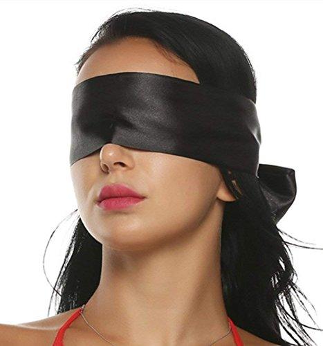 Xocity spielsatin Augenmaske Augenbinde Fetisch Sex Spielzeug für paare, schwarz, 1er Pack (1 x 30 g) -