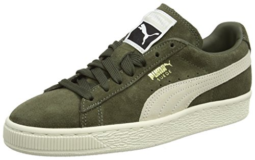 Puma Suede Classic+, Sneakers Basses Mixte Adulte Vert (Olive Night-birch)