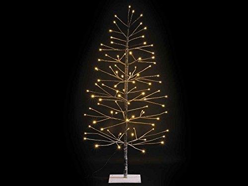 Albero di natale luminoso innevato marrone con 96 luci