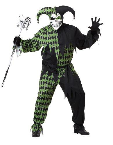 Horror Hofnarr Übergröße Kostüm Herren Größe:- (Hofnarr Kostüm Halloween)