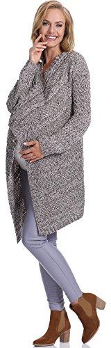 Be Mammy Damen Umstandspullover Ossi Melange/Beige