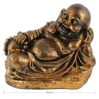 Buddha Dickbauch Figur liegend - Statue 30 cm - Meditation