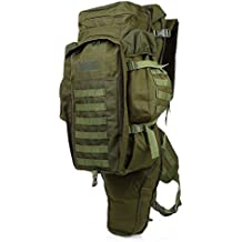 Outlife Mochila Táctica Portatil 60L Militar Backpack Impermeable de Moda para Excursionismo Montañismo Senderismo y Viaje al Aire Libre(Ejercito Verde)