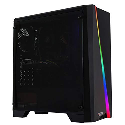 dercomputerladen Gaming Komplett PC Set RGB Cylon AMD Ryzen 3-3200G 4×3.6 GHz – 240GB SSD, 8GB DDR4, Vega 8, WLAN mit 22 Zoll TFT, Maus, Tastatur, Windows 10 Pro Spiele Computer Rechner