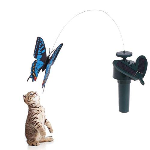 Haorw Spinner Interaktive Katze Spielzeug Elektrische Rotierende Schmetterling Katze Spielzeug Kleine Vögel Whirling Wiggler Kätzchen Spiel Spielzeug Katze Teaser Spielzeug (Farbe zufällig) (Schmetterling)