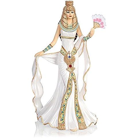 The Bradford Exchange - Cleopatra, reina de Egipto - Figurita Cleopatra - Detalles dorados pintados a mano y cristales