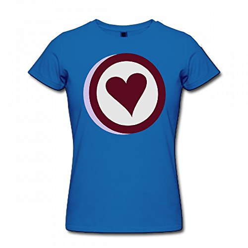 qingdaodeyangguo T Shirt For Women - Design 3D Heart Shirt Blue