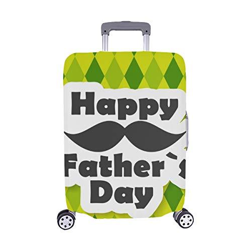 (Nur abdecken) Glücklicher Vatertags-Plakat-Karte Spandex- Staubschutz Trolley Protector case Reise-Gepäck-Schutz-Koffer-Abdeckung 28,5 X 20,5 Zoll -