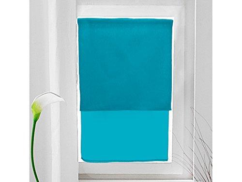 Scheibengardinen Baumwolle recycelt 60x90 cm PANAMA blau